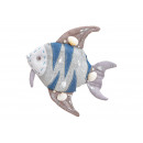 Hanger fish from textile blue, brown (B / H / D) 1
