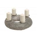 Advent Wreath, Metal Candlestick Silver (B / H /