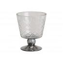 Luce del vento, vaso, calice con vetro a rombo (