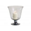 Windlight, vaso, calice con vetro a rombo T