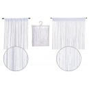 wholesale Curtains & Drapery: String curtain with pearls, made of textile white