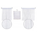 wholesale Curtains & Drapery: String curtain without pearls made of textile whit