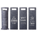 wholesale Food & Beverage: Bottle bag of wine with saying felt gray 6-fold