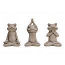 mayorista Muñecas y peluches: Rana de yoga rana de cemento 3 veces surtido , (B