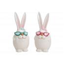 Coniglietto con bicchieri in ceramica Bianco 2- vo