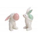 Coniglio con glitter Uovo di Pasqua in ceramica Co
