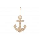 Hanger Anchor Maritime wood Brown (B / H / D) 30x2