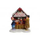 Miniatűr Christmas ábrák Glühweinstand poli,