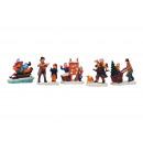 Figure in miniatura di Natale da poli assortito, 5