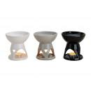 groothandel Huisgeuren/parfums: Aroma lamp in grijs / zwart / wit keramiek, 3-voud