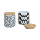 Can with retro ceramic bamboo cover, 2-way so