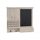 Boards Memo con 4 ganci e mensola in legno, B52
