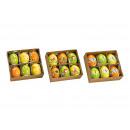 Set di uova di Pasqua Hanger, uova Nature, 4x6x4cm