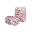 wholesale Gift Wrapping: Gift box set Heart motif made of cardboard, B10 x