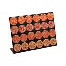 la pizza magnete sul pannello di plastica, 4-sort