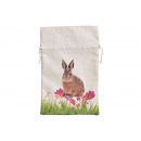 Gift Bag Bunny Decor in tessuto Beige (B / H)
