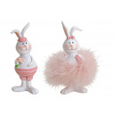 Bunny Girl, Boy in Poly Pink / Pink 2-fold sort