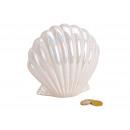 Salvadanaio lucido in ceramica bianca lucida (B /