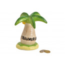 wholesale Gifts & Stationery: Money Box Palm Dream Vacation Ceramic Multi Colore