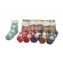 wholesale Stockings & Socks: Hut socks Teddy ABS, one size, 6-way assorted,