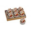 Teelicht set 6 pezzi, Lebkuchenhaus, B4 x T5 cm