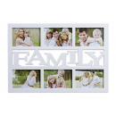 wholesale Pictures & Frames: Photo Frame Family for 6 photos, made of white pla
