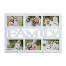 cornice familiare per 6 foto di pla bianco