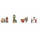 Miniatűr karácsonyi figurák, szortírozott kiszállí