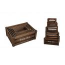Crate Situato in legno marrone, 5 pezzi, B37 x T28