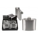 wholesale Lunchboxes & Water Bottles: Hip flask for ca 140ml made of metal silver (W / H