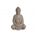 Buddha a Magnesia Grey-tól (B / H / D) 44x67x35cm