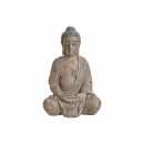 Buddha di Magnesia Grigio (B / H / D) 44x67x35cm