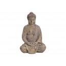 Magnesia Buddha grigio (B / H / D) 21x39x20cm