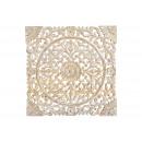 Großhandel Bilder & Rahmen: Wandbild 3D Blumen Dekor aus Mangoholz Weiß ...