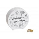 Salvadanaio luna di miele in ceramica bianca (A /