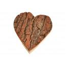 Heart wood bark in natural wood (B / H / D) 15x16x