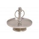Etagere con 1 livello di metallo argento (B / H /