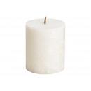 Candela Stearin-Stumpen, bianca, (B / H) 6,4x7,5cm