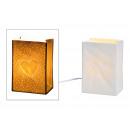 wholesale Lampes: Table lamp heart porcelain decor White (B / H / D)