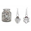 Cuore appendiabiti, stella in vetro argento 2- vol