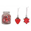 Heart Hanger, Star of Glass Red 2- volte assortito