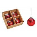 Hanging Ball Glass Red (W / H / D) 10x10x10cm