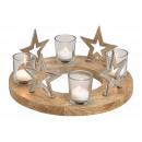 Ghirlanda natalizia, decorazione a stella in metal