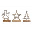 ingrosso Decorazioni: Stella, albero, angelo di metallo mango legno arge