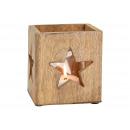 Decorazione a stella di Windlight in legno di mang