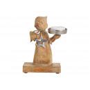 ingrosso Pendenti: Angelo realizzato in legno di mango, con reggiseno