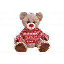 Maglione in felpa color marrone, rosso orso (B / H