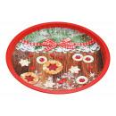 nagyker Dekoráció: Tányér karácsonyi Tányér dekor többszínű (