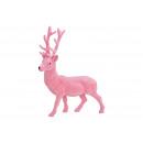 Szarvas pelyhesített rózsaszín / rózsaszín (B / H