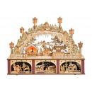 Großhandel Dekoration: Winterszene mit Beleuchtung aus Holz (B/H/T) 45x32